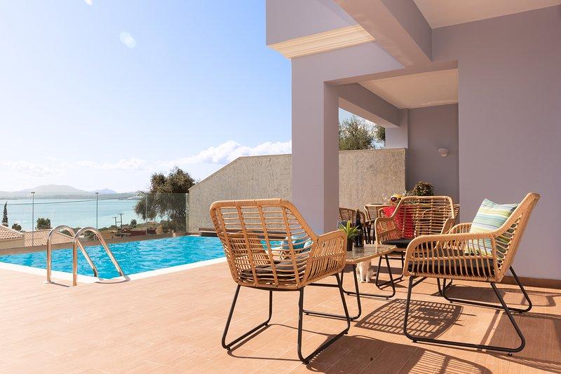 Corfu Ocean View Villa Damian, holiday rental in Barbati