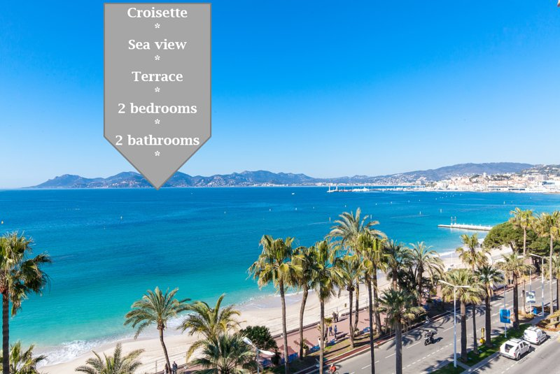 On la Croisette: luxe 2 bedrooms/ 2 baths, vacation rental in Cannes