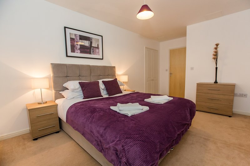 Serenity Stay Syacmore - A lovely 2 bed 2 bath apartment overlooking Abbey Field, holiday rental in Birch