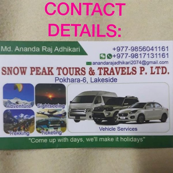 Travel agency, holiday rental in Pokhara
