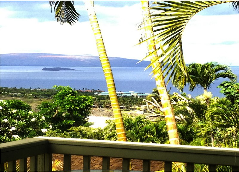 OCEAN VIEW PRIVATE ROMANTIC COTTAGE ABOVE WAILEA, holiday rental in Wailea