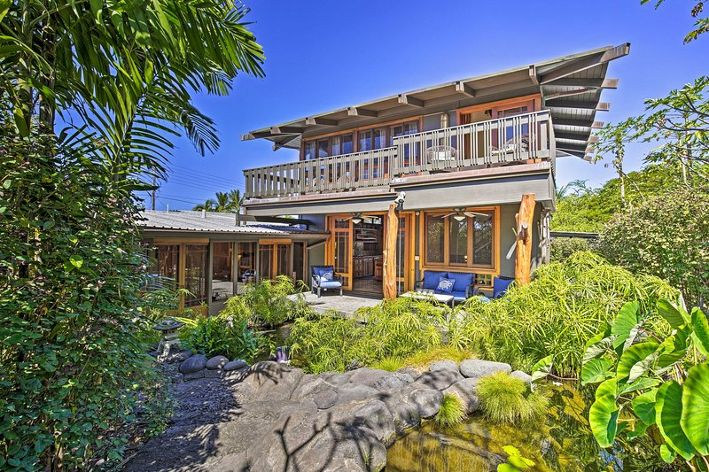 NEW! Asian-Inspired Beach Hideaway, Walk to Bay!, vacation rental in Island of Hawaii