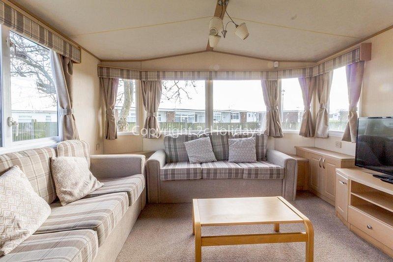 Great caravan for hire at California Cliffs holiday park in Norfolk ref 50006B, alquiler de vacaciones en California