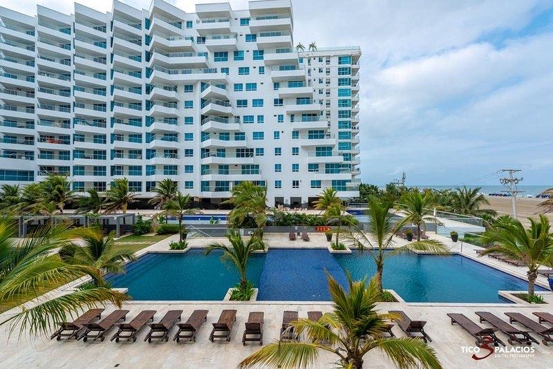 Apartamento en Cartagena Frente al Mar 2me2 Con Aire acondicionado y Wifi, holiday rental in La Boquilla