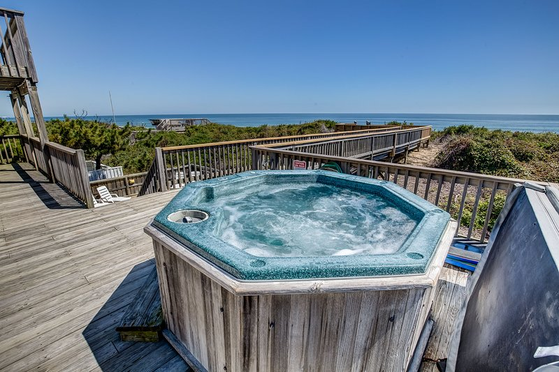 Hot Tub Located on Mid-Level Deck