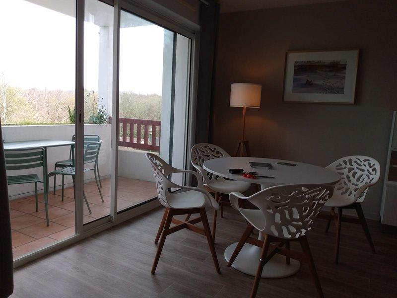 2 pièces rénové avec grande terrasse clair calme, 500m à pied du centre de Cambo, holiday rental in Hasparren