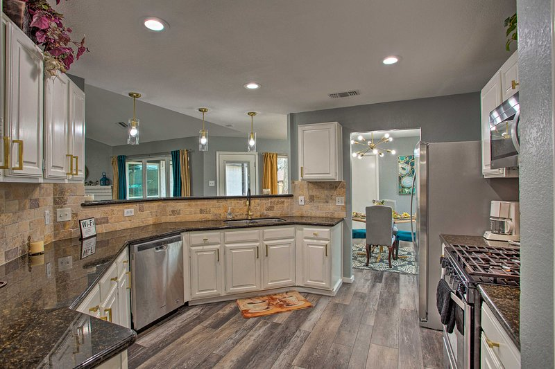 Enjoy top of the line amenities and upgrades at this vacation rental.