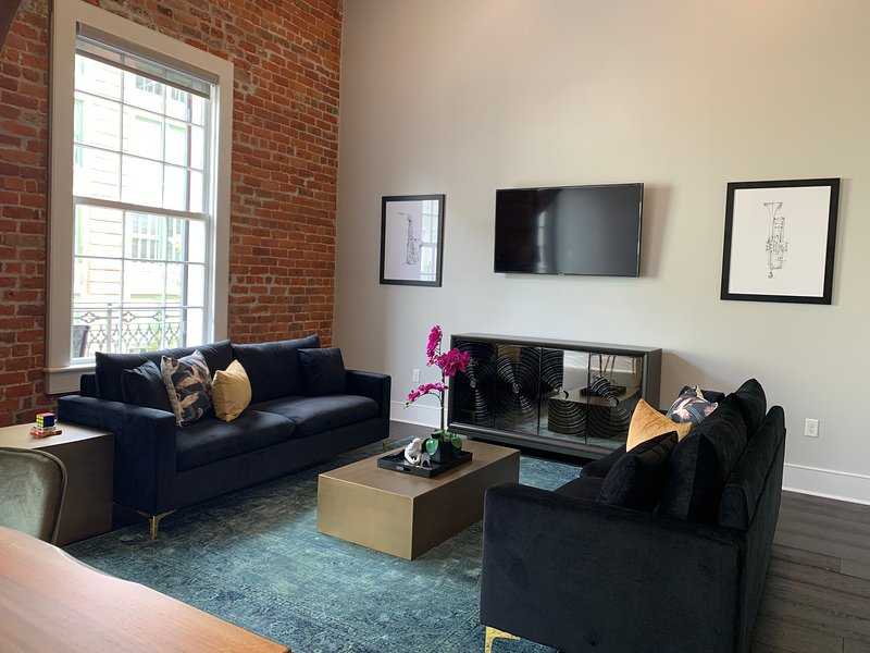 Living Area with Smart TV