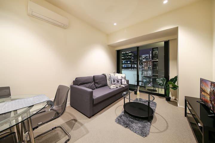 A comfy living area.
