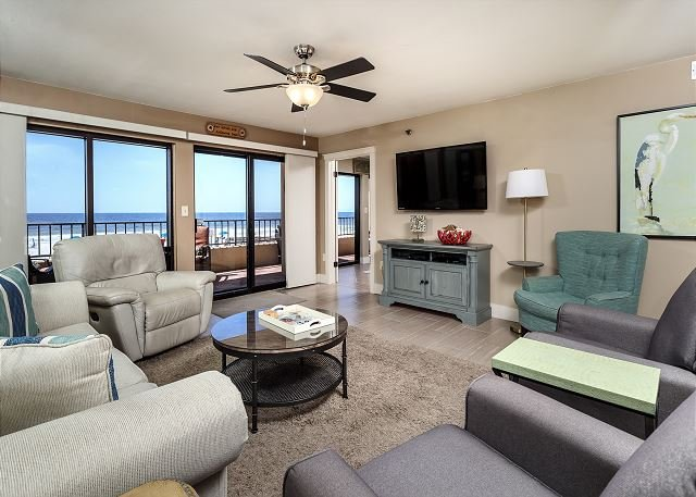 Very spacious beach front living room