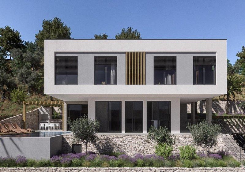 Nuovo! Straordinaria Villa Dišpet con piscina riscaldata, wellness, wine bar, vista mare