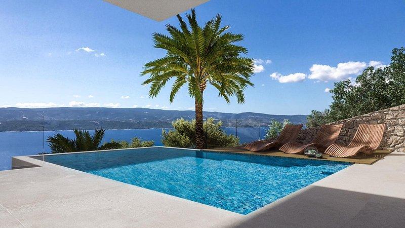 Villa con vista panoramica sul mare e sull'isola dall'intera proprietà