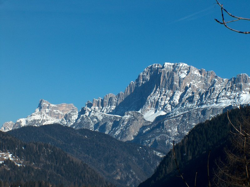 Mount Pelmo and Civetta da Falcade