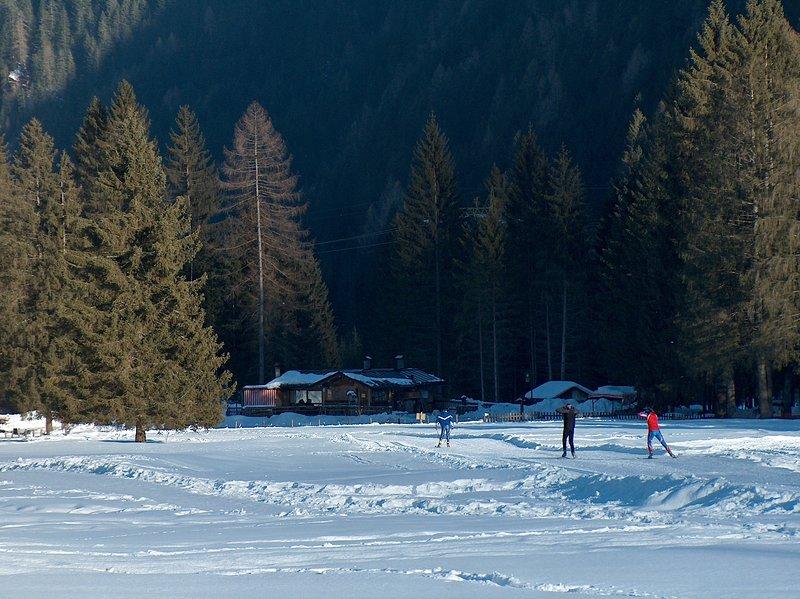 Nordic ski slopes in Falcade