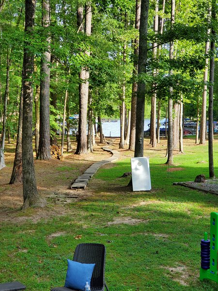 Come RELAX with beautiful views of quiet Lake Gaston Cove in Spinnaker Pointe! Convenient to All!