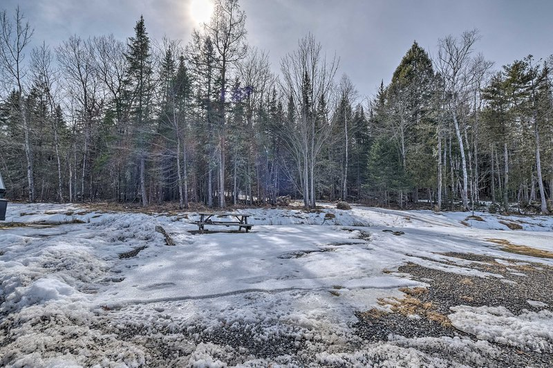 The property boasts access to hiking trails.