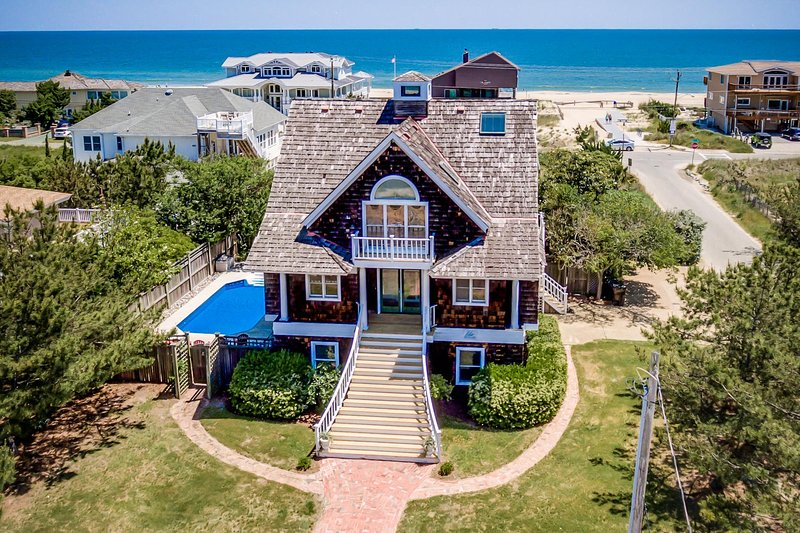 Front Aerial View of Nantucket Charm