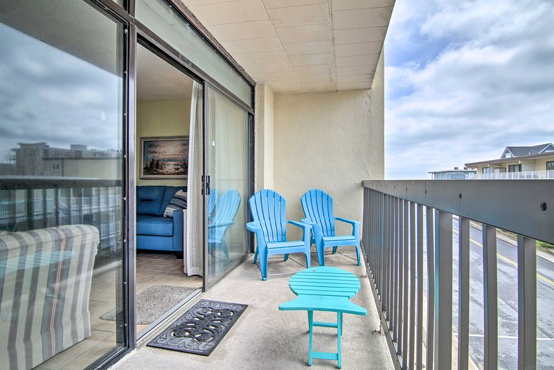 Guests can walk right onto the beach at this Ocean City condo.