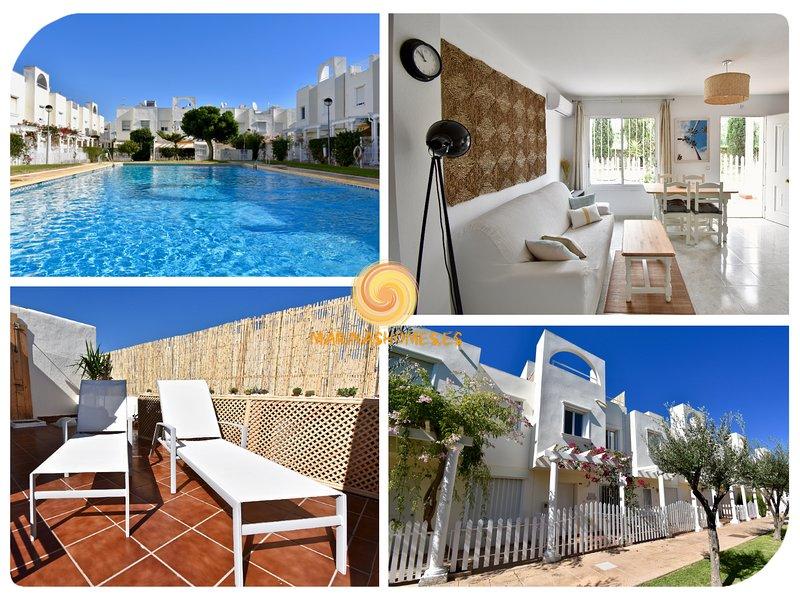 Villa Marinas - Tu Duplex con Solarium Privado y 300mbs Fibra Óptica!, alquiler de vacaciones en Vera