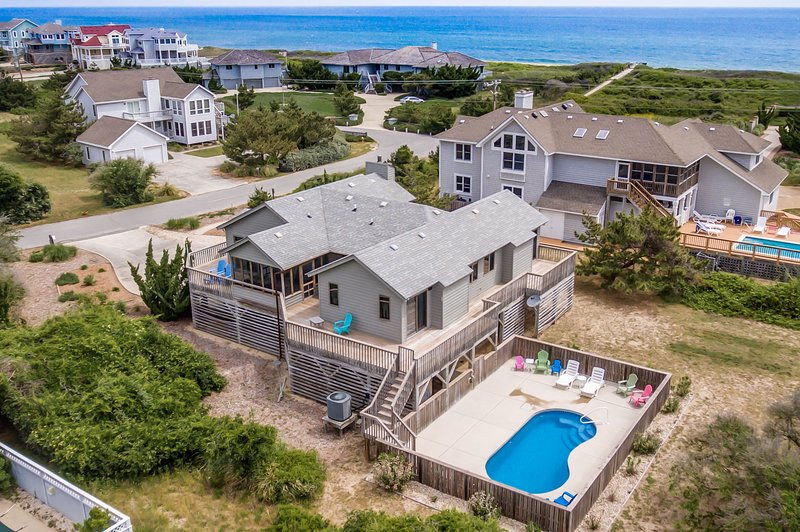 Inn Jeopardy! | 230 ft from the beach | Private Pool | Southern Shores, holiday rental in Southern Shores