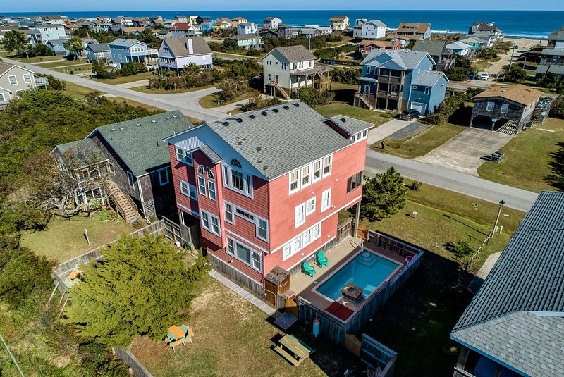 Rear Aerial View of Sunset Hideaway