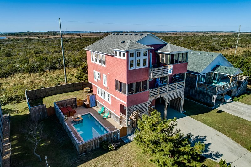 Front Aerial View of Sunset Hideaway