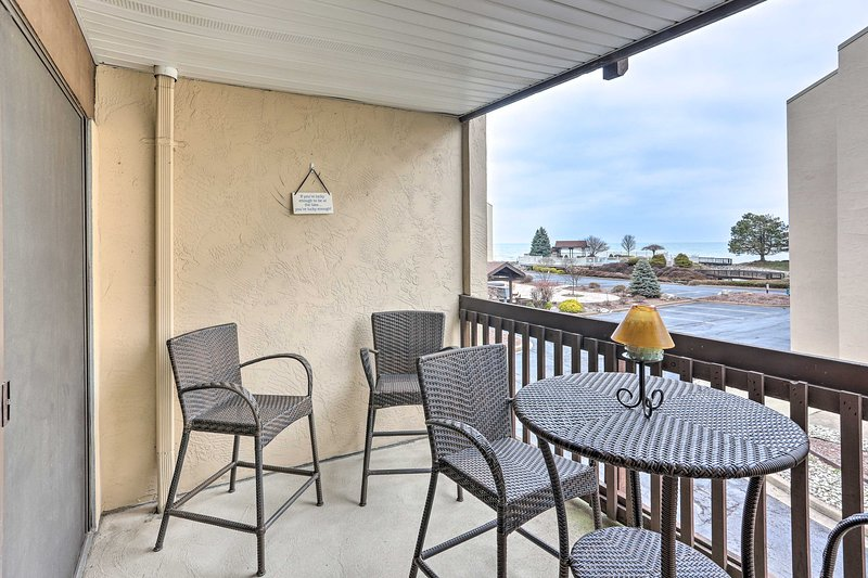 Sip an ice-cold beer on the balcony of the vacation rental.