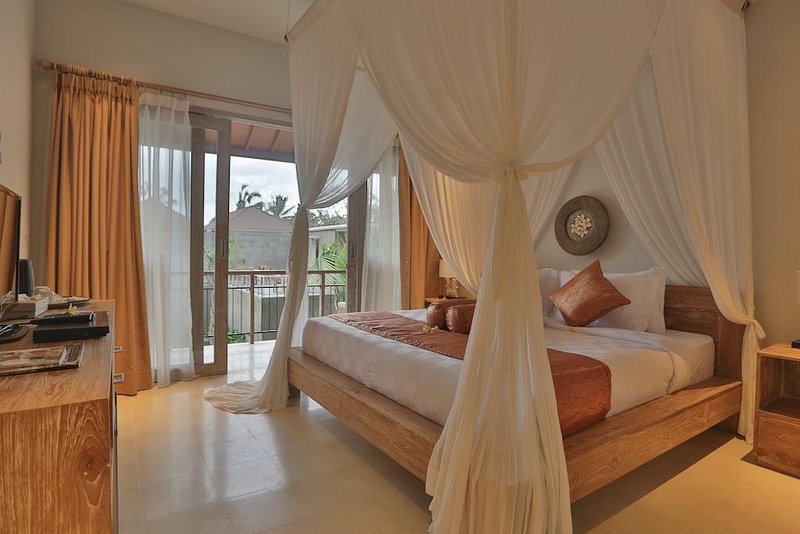 1 BR Deluxe Room-Private Balcone-Rice Field View-B'fast at Ubud, holiday rental in Singakerta
