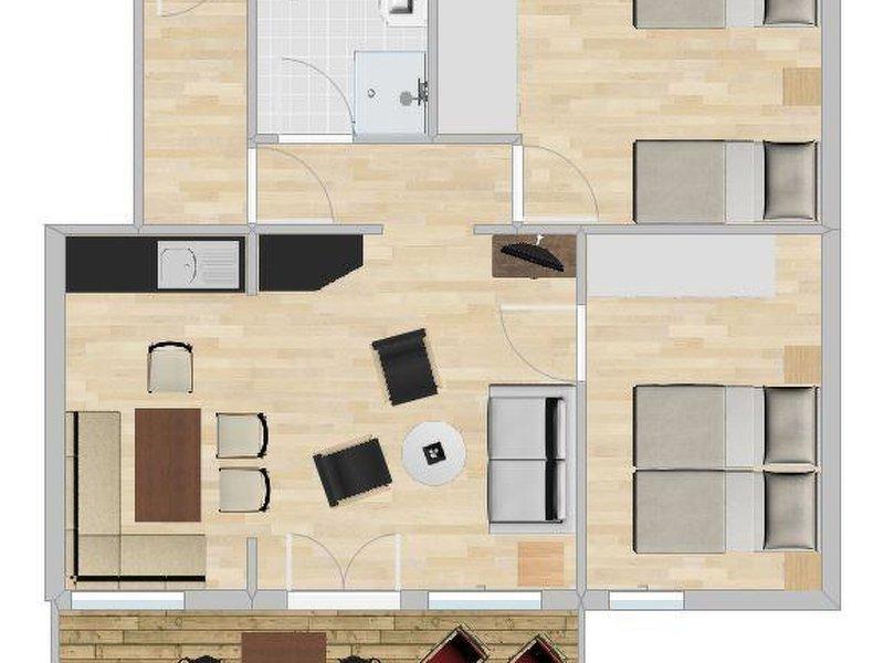 Konkordia 5 - 2. Stock, vacation rental in Fieschertal