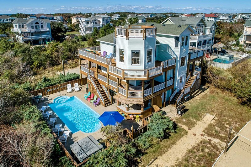 Terrapin Station | 950 ft from the beach | Private Pool, Heated Pool, Hot Tub | – semesterbostad i Corolla
