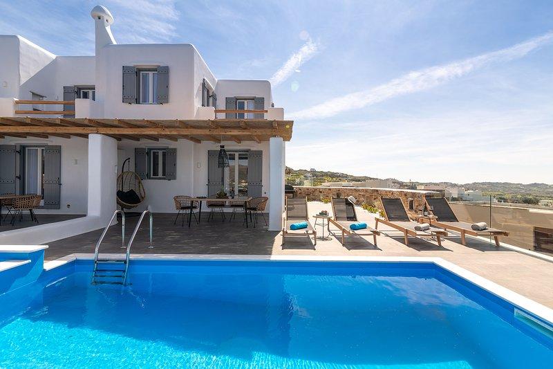 Turquoise Villa - Naxian Sunset Villas complex - Private Pool, holiday rental in Glinado