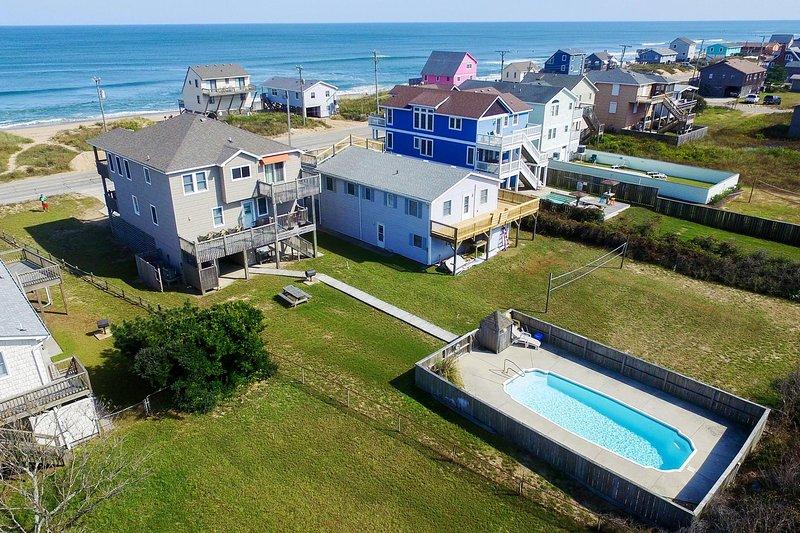 Hokie Heaven | 50 ft from the beach | Private Pool, Hot Tub | Kitty Hawk, location de vacances à Kitty Hawk