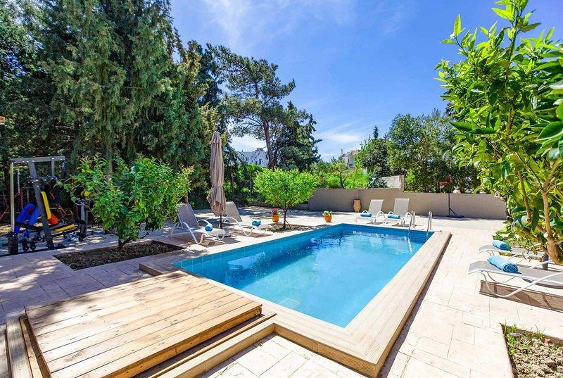 Charming villa w/ pool, BBQ, A/C & WiFi., holiday rental in Koskinou