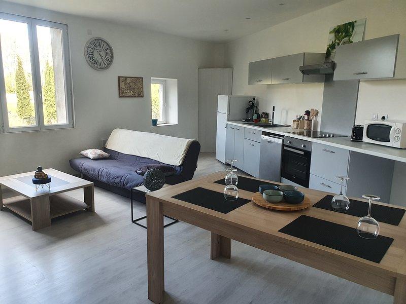 Grand appartement de 90m² rénové en 2019 dans une rue calme proche des commerces, location de vacances à Bedarieux