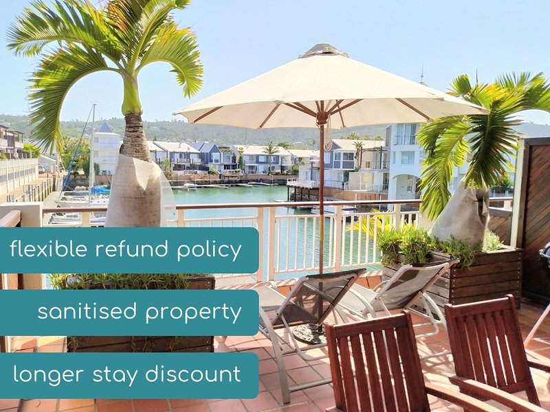 Harry's Waterfront Apartment + Large Patio |  WIFI  |  DSTV, holiday rental in Brenton-on-Sea