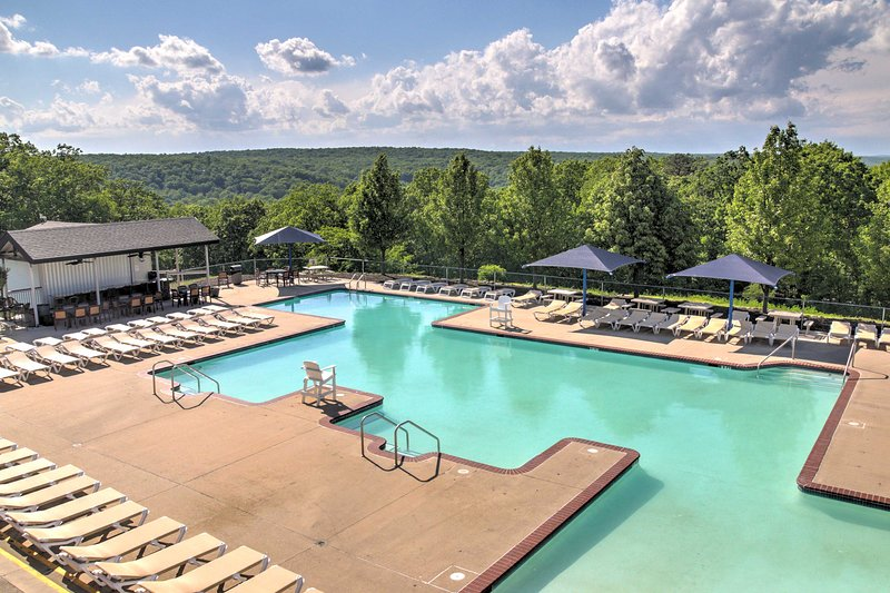 Take a swim in one of the community pools with breathtaking Poconos views.