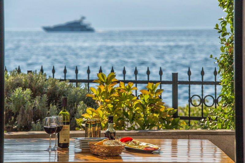 Tivat Bay from the terrace at Villa Ruza