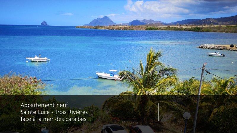 Sainte Luce les pieds dans l'eau face à la Caraïbe, casa vacanza a Arrondissement of Le Marin