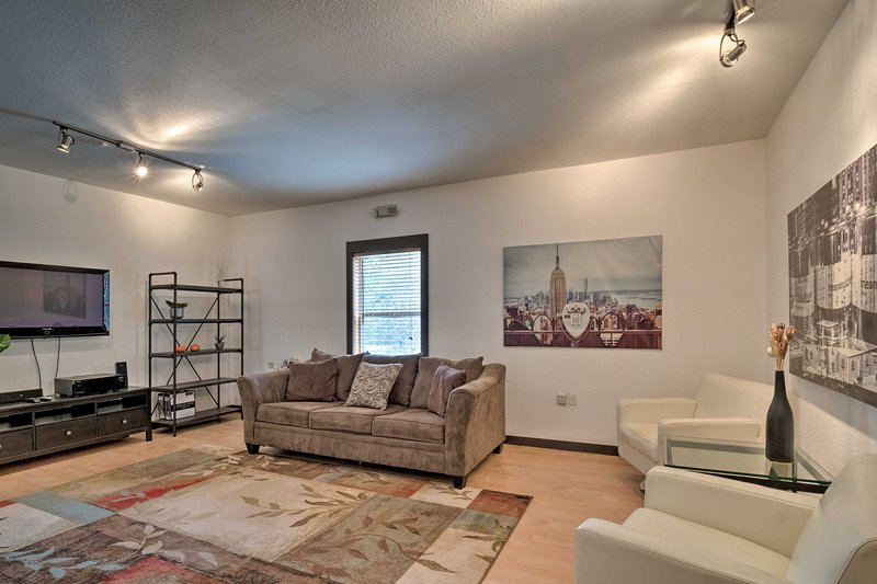 This apartment boasts 1,800 square feet of living space to spread out in!