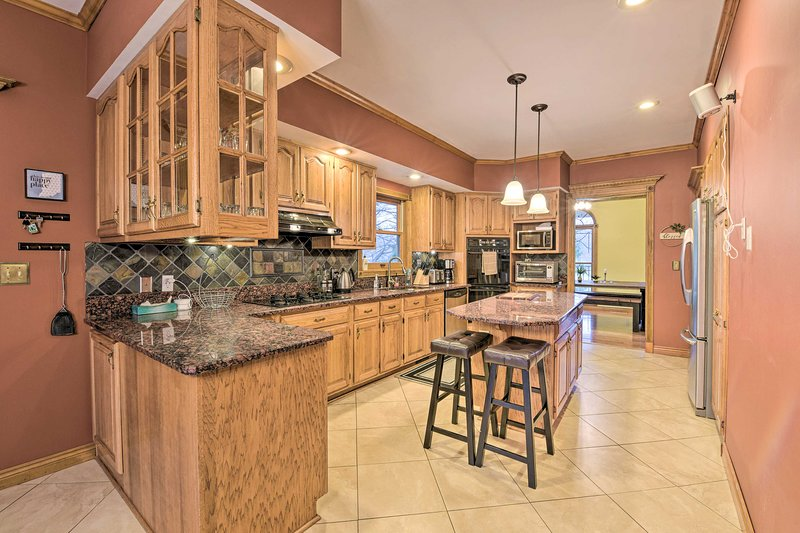 The rental's spacious kitchen is the perfect place to whip up your best meals.