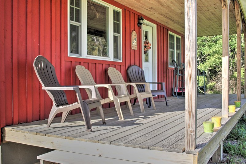 Spend an afternoon paired with a good book on the private covered porch.