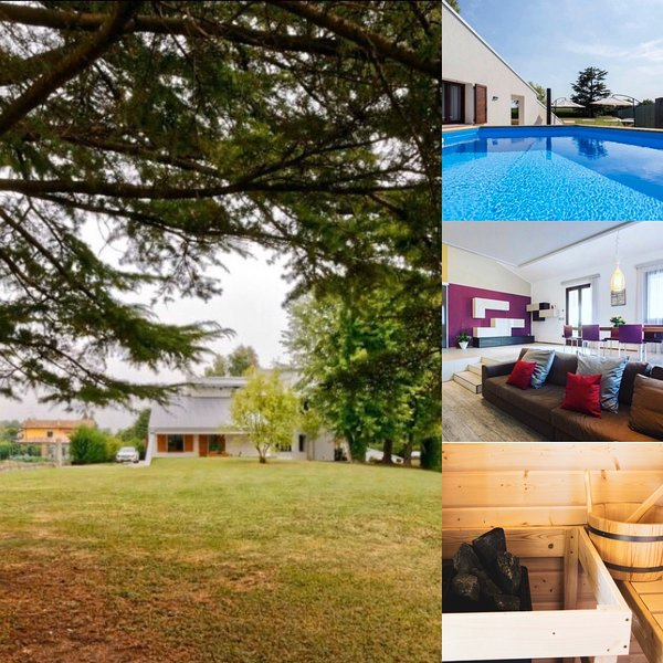 Nifty Villa con Piscina relax, Idromassaggio e Sauna Finlandese, alquiler de vacaciones en Palazzolo dello Stella