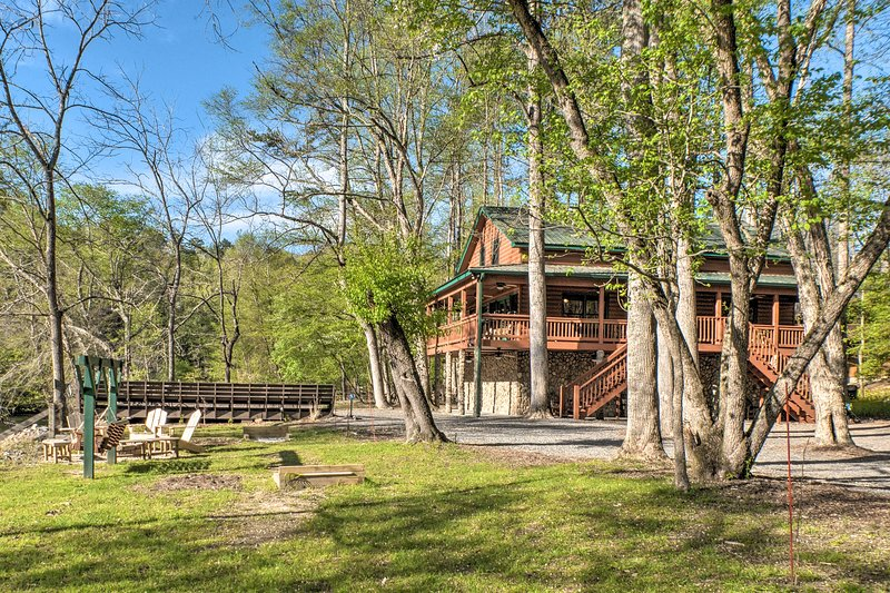 Escape to Ellijay and stay at this peaceful 4-bed, 4-bath vacation rental!