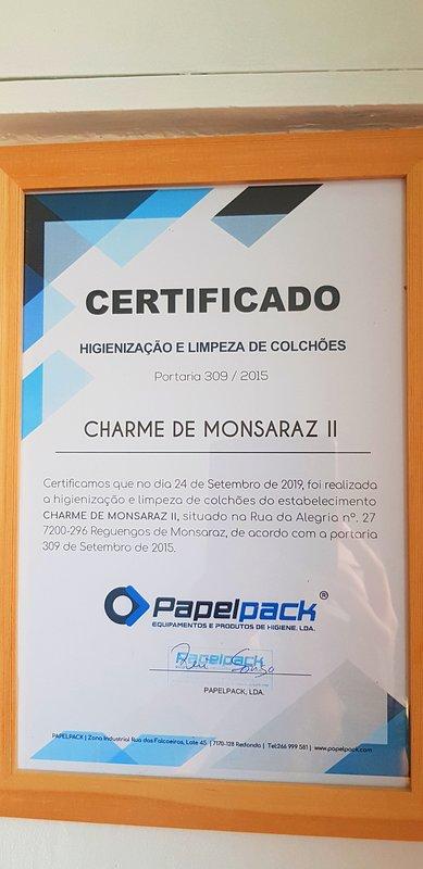 Certidicado de limpeza de colchoes Mattress cleaning certificate