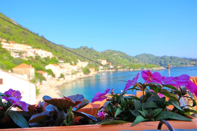 Apartment Mambo , Mljet - Duplex Apartment with Terrace and Sea View, holiday rental in Prozurska Luka