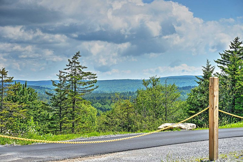 Marvel at spectacular mountain views right from the property!