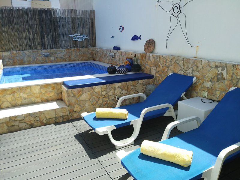 Relax by the plunge pool