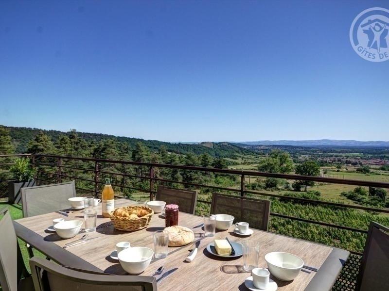Vue sur vignes, location de vacances à Montbrison