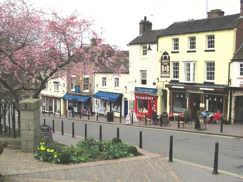 Ironbridge street - plenty of cafes, pubs, gift shops to browse around.
