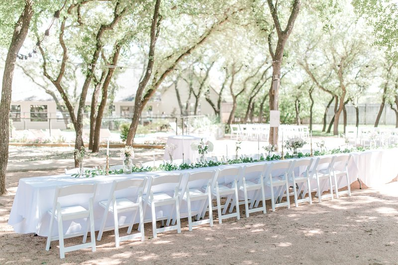 Outdoor Wedding. We provide tables and chairs for 75 guests.
